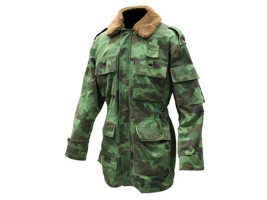 Serbian army Parka with Faux Fur Collar