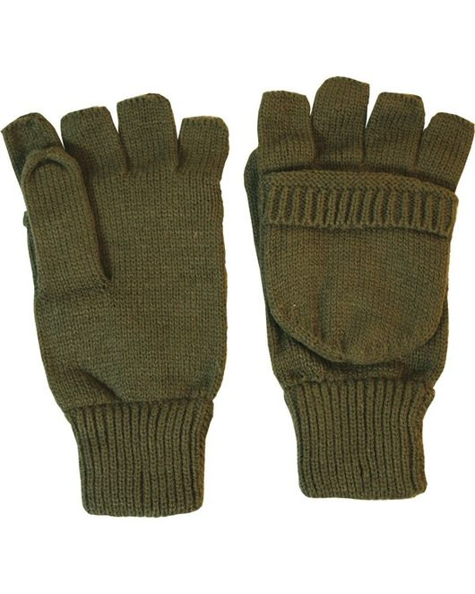 Wool Shooter Mitts - Olive