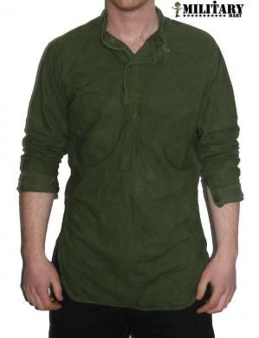 Used Swedish M49 M55 Grandad Shirt