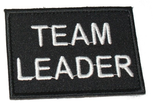 Team Leader Black patch  badge security