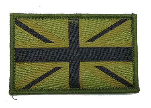 Union Jack Subdued Patch GreenBlack