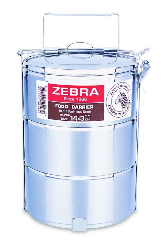 Zebra Head 3 Tier Food Carrier 14cm