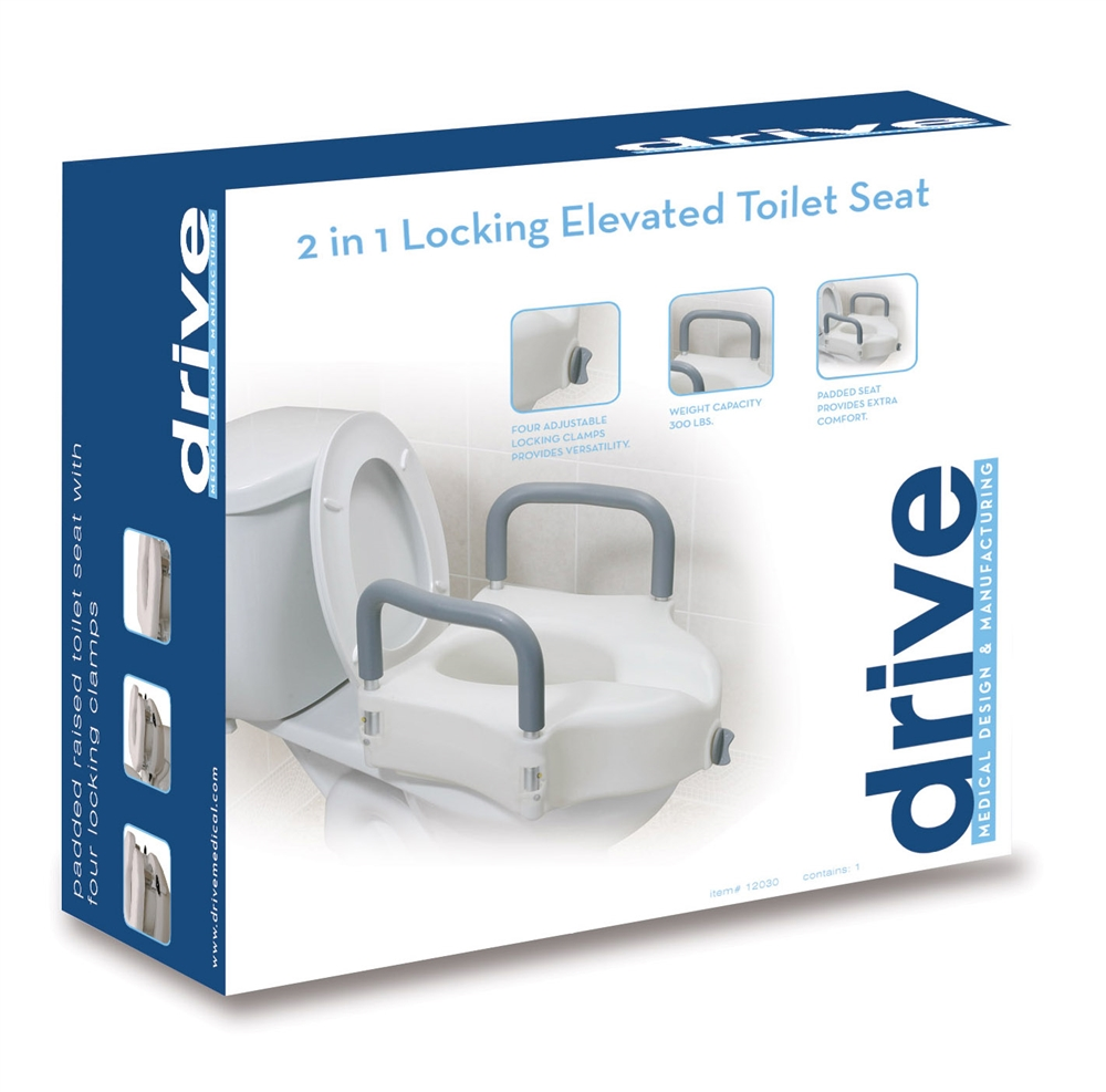 Astounding Drive Elevated Toilet Seat With Removable Arms 12027Ra Dailytribune Chair Design For Home Dailytribuneorg