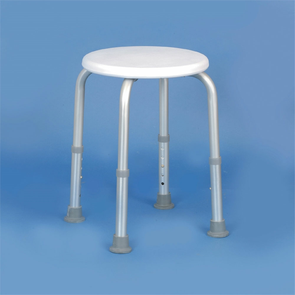 Shower Stool With Circular Seat Adjustable