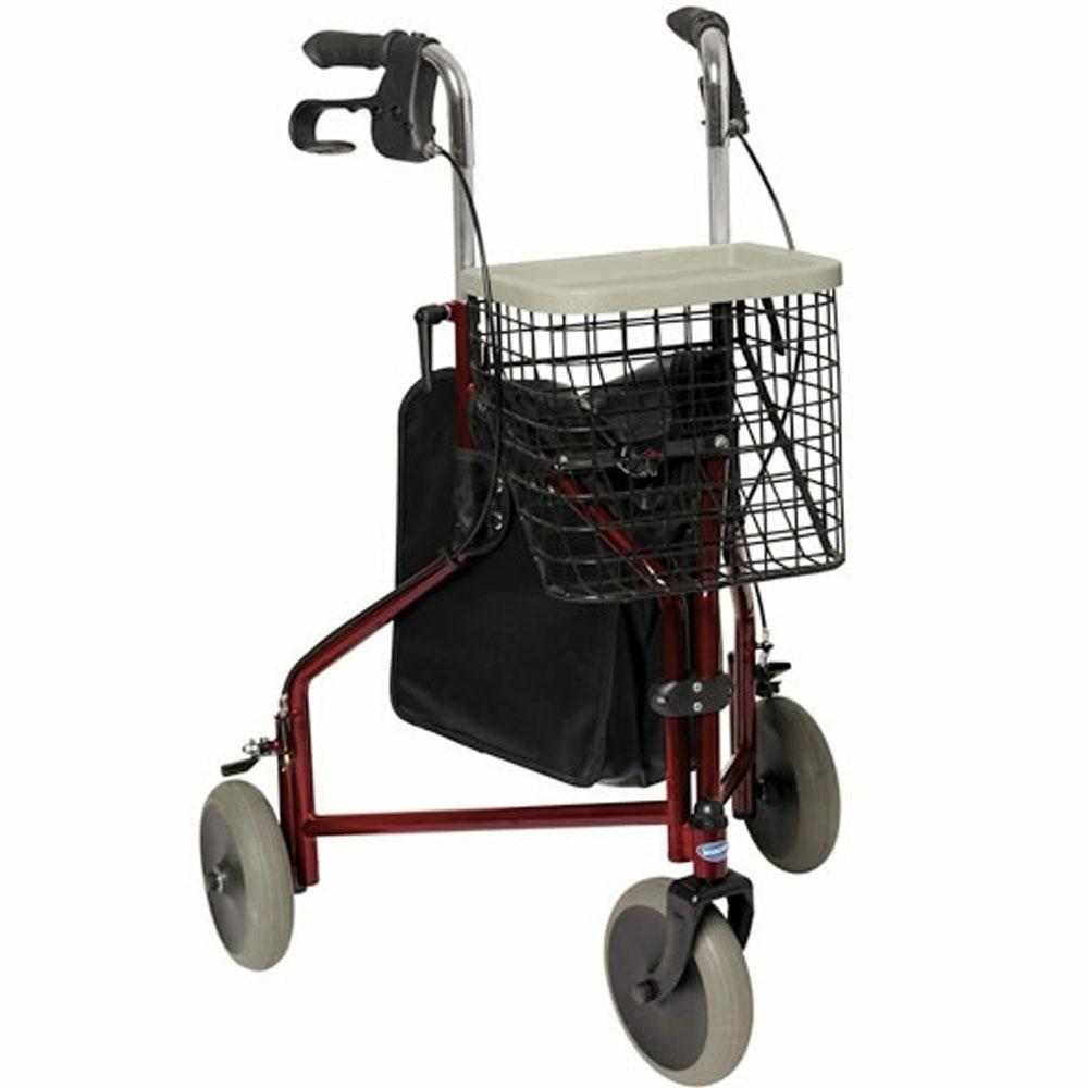 Invacare Delta Lightweight Tri Walker 3 Wheel Walking Frame Bag ...