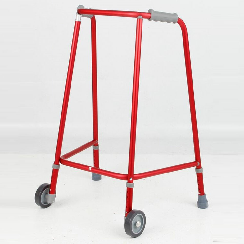 Days Red Adjustable Height Narrow Walking Zimmer Frame