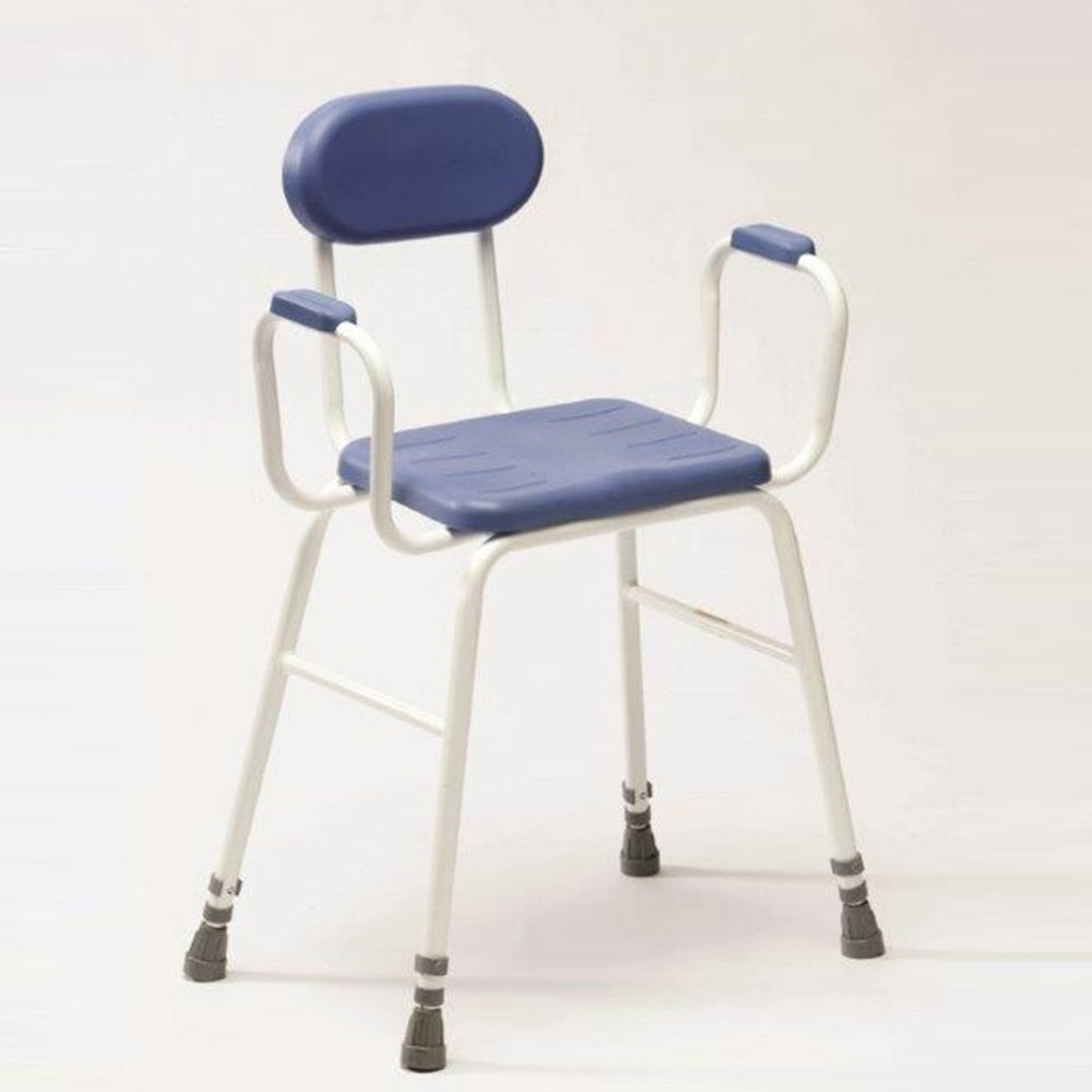 Drive Perching Stool Adjustable Height Padded Arms And