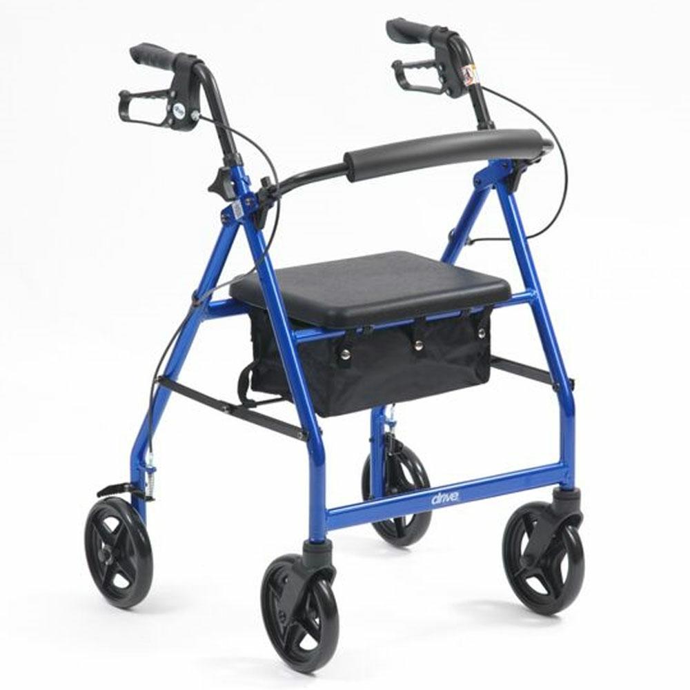 Drive R8 Lightweight Aluminium Rollator - Blue