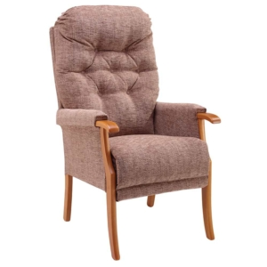 Avon Deep Button Back Chair - Cocoa