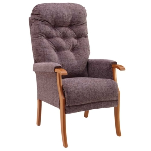 Avon Deep Button Back Chair - Mink