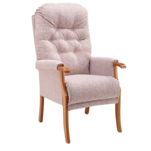 Avon Deep Button Back Chair - Oatmeal