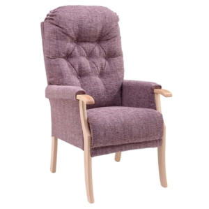 Avon Deep Button Back Chair - Plum