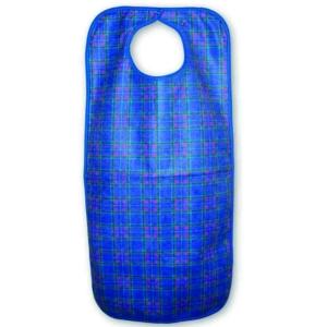 Short Adult Bib Snap Closure(45x60cm) - Blue Stuart