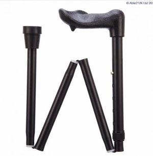 "Able 2 Folding Walking Stick Fischer Handle  (33"" - 37"")"