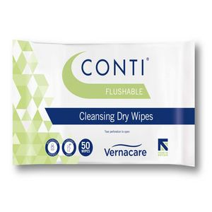 Conti® Flushable Dry Wipe