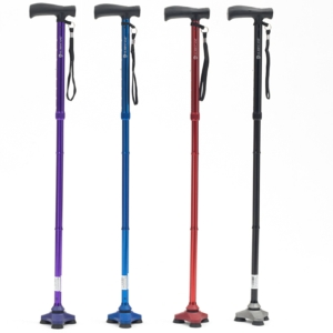 Hurrycane Walking Stick - Folding / Height Adjustable / Multiple Colours