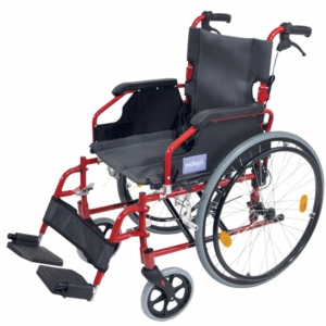 Aidapt Deluxe Lightweight Self Propelled Aluminium Wheelchair - Red