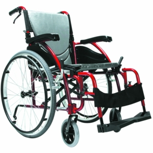 "Ergo 115 Self Propelled Wheelchair Red 16"" x 17"""