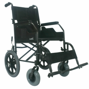 "Robin Transit Wheelchair 16"" x 16"" fixed wheels/slowing brakes"