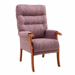 Orwell Tailored Back Chair  - Cocoa
