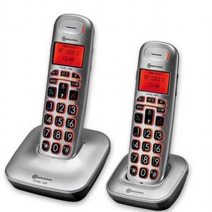 BigTel 1202 Pair Of Cordless Portable Telephones With Big Keys - VAT EXEMPT