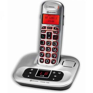 BigTel 1280 Cordless Portable Telephone Answering Machine With Big Keys