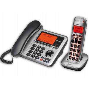 BigTel 1480 Corded Telephone Answering Machine And Portable Cordless Dect Phone - VAT EXEMPT