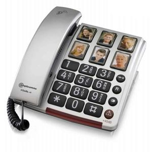 BigTel 40 Plus Big Button Telephone With Programmable Photo Buttons - VAT EXEMPT