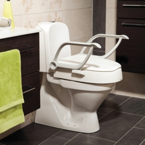 Raised Toilet Seat Cloo Adjustable Height With Arms