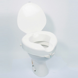 """Raised Toilet Seat Cosby 4"""" With Lid"""