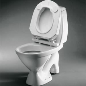 "Raised Toilet Seat Hi-Loo Fixed With Lid 10Cm/4"""