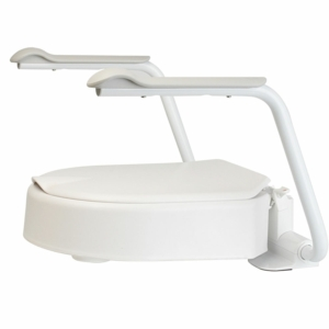 """Raised Toilet Seat Hi Loo With Arms 6Cm/2"""""""