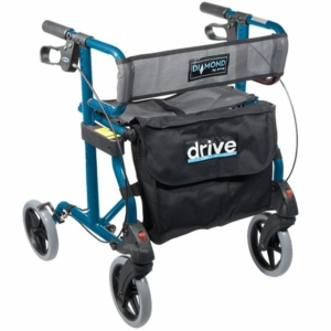 Diamond Aluminium Rollator (Blue)