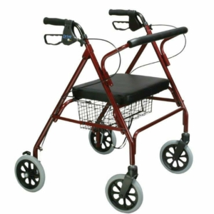 Heavy Duty Rollator (Red)