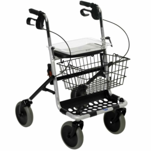 Invacare Banjo 4 Wheel Silver Rollator With Basket