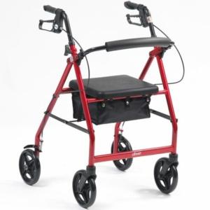 Drive R8 Lightweight Aluminium Rollator - Red