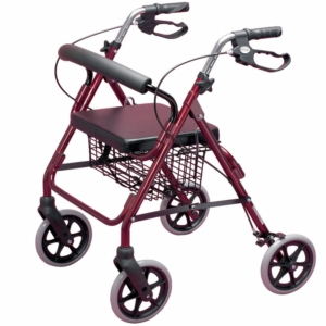 Homecraft Four Wheeled Rollator - Ruby