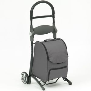 Shop and Sit Shopping Trolley with Seat - Grey and Black