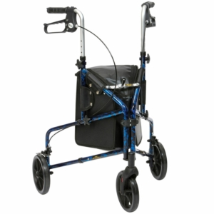 Drive Medical Flame Tri Walker - Blue