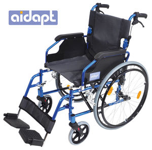 Aidapt Deluxe Lightweight Self Propelled Aluminium Wheelchair Blue - VA165BLUE