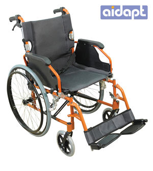 Aidapt Deluxe Lightweight Self Propelled Aluminium Wheelchair Orange - VA165ORANGE