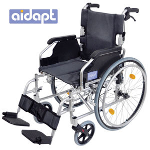 Aidapt Deluxe Lightweight Self Propelled Aluminium Wheelchair Silver - VA165SILVER