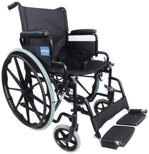 Aidapt Self Propelled Steel Wheelchair Black - VA166BLACK