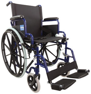Aidapt Self Propelled Steel Wheelchair Blue - VA166BLUE
