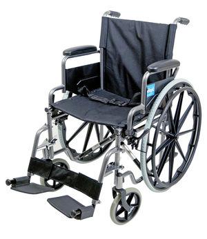 Aidapt Self Propelled Steel Wheelchair Hammered Effect - VA166HAM