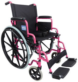 Aidapt Self Propelled Steel Wheelchair Pink - VA166PINK