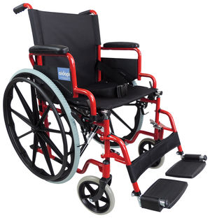Aidapt Self Propelled Steel Wheelchair Red - VA166RED