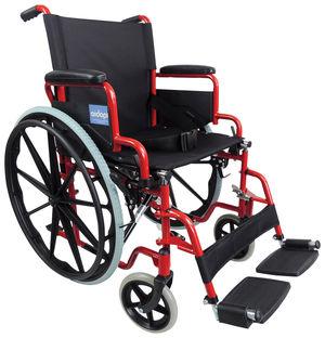 Aidapt Self Propelled Steel Wheelchair Red - VA166RED