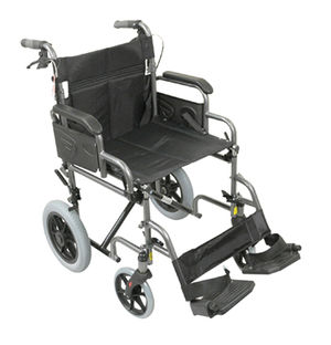 Aidapt Deluxe Attendant Propelled Steel Wheelchair Grey - VA169