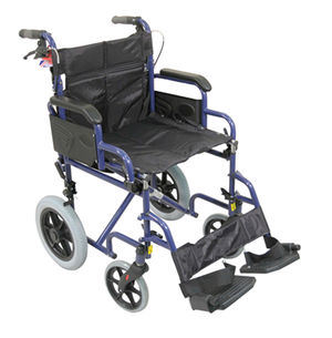Aidapt Deluxe Attendant Propelled Steel Wheelchair Blue - VA169BLUE
